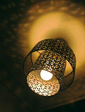 Cutout metal light shade. Or ceiling lamp fixture stock image
