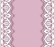 Cutout paper background with lace borders Stock Image