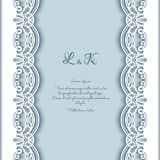 Cutout paper background with lace borders Stock Photos
