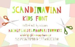 Cutout paper font. stock illustration