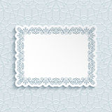 Cutout paper frame with border ornament Royalty Free Stock Photo