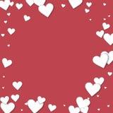 Cutout paper hearts. Royalty Free Stock Photo