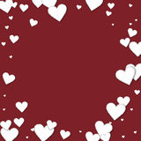 Cutout paper hearts. Stock Photography