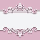 Cutout paper lace frame Stock Photos