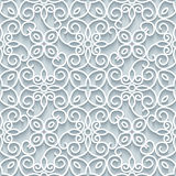 Cutout paper lace texture, seamless pattern Stock Images