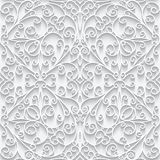 Cutout paper lace texture, seamless pattern Royalty Free Stock Images