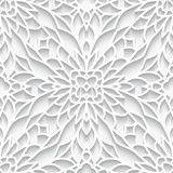 Cutout paper lace texture, seamless pattern Stock Photos