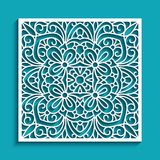 Cutout paper ornament, lace pattern Royalty Free Stock Image