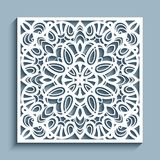 Cutout paper ornament, lace pattern, template for cutting Royalty Free Stock Photography