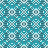 Cutout paper pattern, lace texture Stock Images