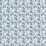 Cutout paper lace pattern. Cutout paper pattern, lace texture, swirly tulle background, seamless ornament in neutral color vector illustration