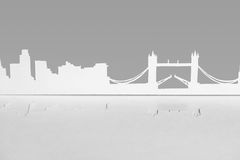 Cutout paper silhouette of London city, England Royalty Free Stock Images