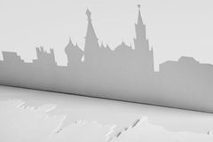 Cutout paper silhouette of Mocsow city, Russia Stock Photography