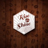 Cutout paper style on a wooden background. Royalty Free Stock Photo