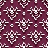 Cutout paper swirls, seamless pattern. Cutout paper swirls, floral ornament, damask seamless pattern vector illustration