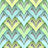Cutout paper texture, seamless pattern. Cutout paper texture, abstract geometric seamless pattern, modern scale ornament vector illustration