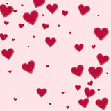 Cutout red paper hearts. Stock Photography