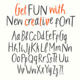 Cutout style vector ABC letters set. Hand drawn creative cutout style vector ABC letters set. Upper and lower case. Doodle comic font for your design Stock Images