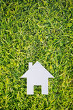 Cutout White House on Green Grass Royalty Free Stock Photography