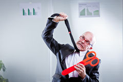 Cuts are killing my business Stock Images