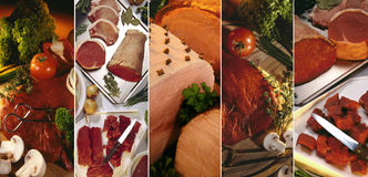 Cuts of Meat Stock Photo