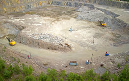 Cuts a quarry Royalty Free Stock Photography
