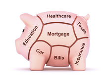 Cuts of savings Stock Images