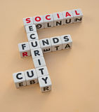 Cuts in social security funding Stock Photo