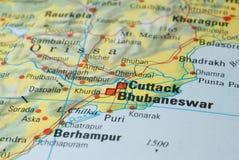 Cuttack drogowa mapa Zdjęcie Royalty Free