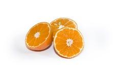 cutted świeży tangerine Obrazy Royalty Free