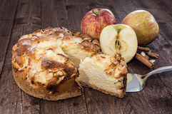 Cutted Apple Pie Stock Photos