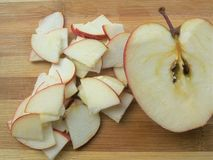 Cutted apple pieces Stock Photo