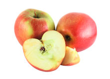 Cutted apples Royalty Free Stock Image
