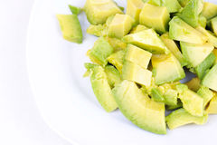 Cutted avocado on white Royalty Free Stock Photography