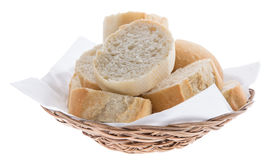 Cutted Baguette in a basket Stock Photo