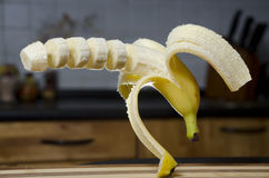 Cutted banan Zdjęcia Royalty Free