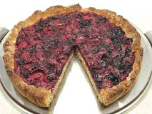 Cutted berry cake Stock Image