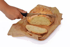 Cutted bread Stock Image