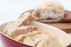 Cutted bread with somun in the background Royalty Free Stock Image