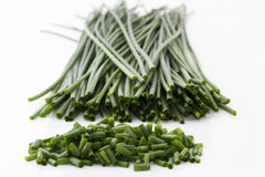 Cutted chives royalty free stock image