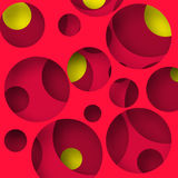 Cutted circles background. Cutted colored circles. Modern abstract vector background Royalty Free Stock Photo