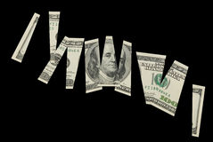 Cutted dollar banknote- financial concept Stock Photo