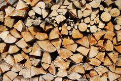 Cutted firewood Royalty Free Stock Photos