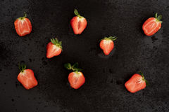 Cutted fresh strawberry Stock Photography