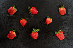 Cutted fresh strawberry Stock Photos