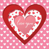 Cutted heart background Royalty Free Stock Photos