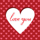 Cutted heart background Royalty Free Stock Images