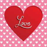 Cutted heart background Royalty Free Stock Photography