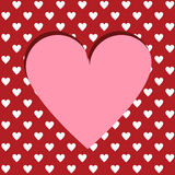 Cutted heart background Stock Photography