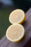 Cutted lemon Stock Images